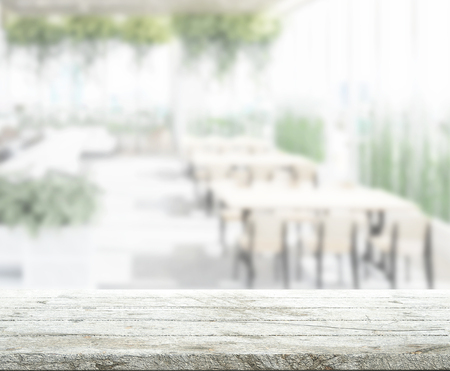 Table Top And Blur Restaurant Of The Background Standard-Bild - 121572396