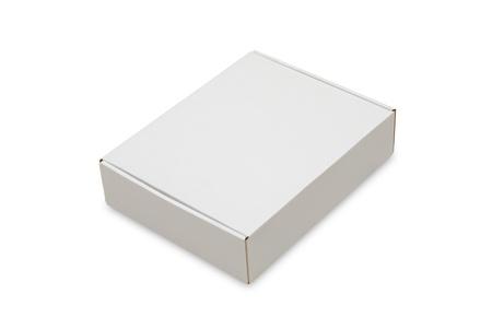 Blank white box isolated on white background Stock Photo - 10672448