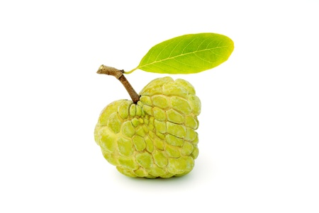 Fresh custard apple isolated on white background  photo