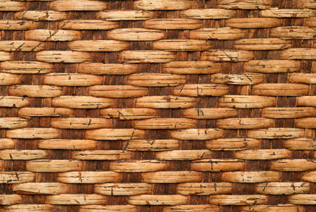 Texture of old bamboo weave photo