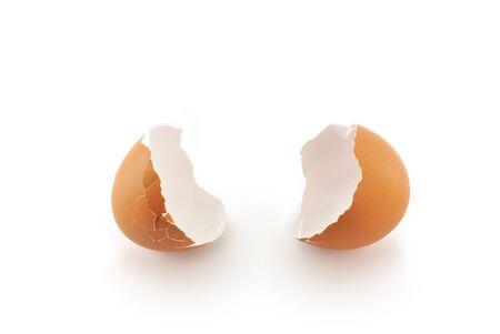 계란 내부가 비어 스톡 사진