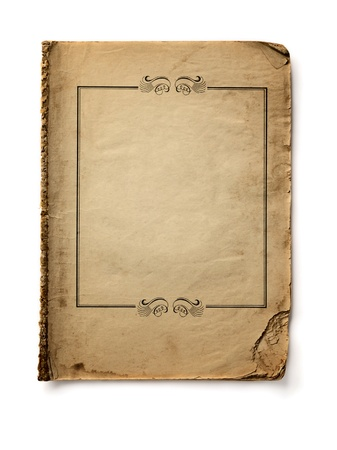 very dirty: bank book isolated on white background Stock Photo