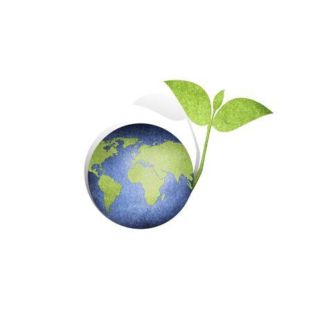 desarrollo sustentable: Guardar árbol del mundo excepto papel signo Foto de archivo