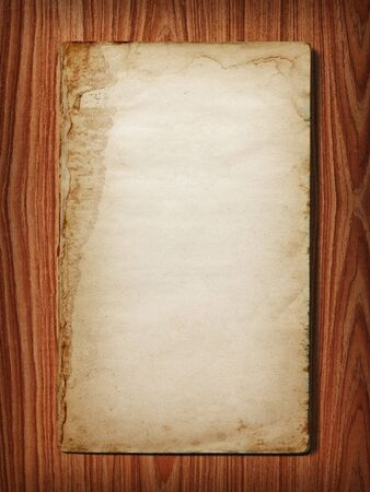 one story: Vintage book on wood background Stock Photo
