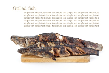 snake head: Grilled fish - Snake head the best freshwater fish in Asia Stock Photo