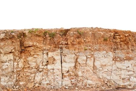 canyon walls: Soil layer Stock Photo