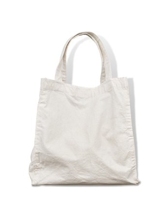 Old cotton bag Stock Photo