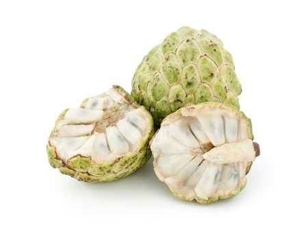 Custard apple isolated on white background photo