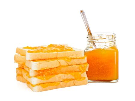 marmelade: Bread with apricot jam
