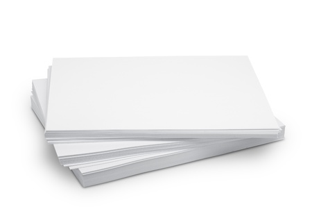 Stack white paper isolated