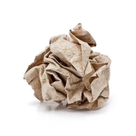 crumple: Paper crumple ball