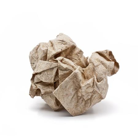 Papier zerknittern Ball