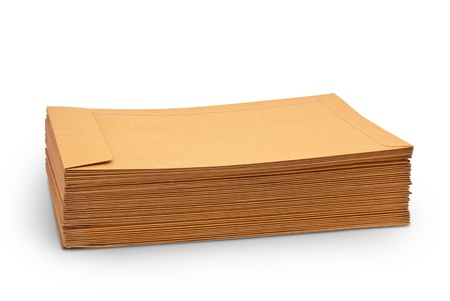 envelop: Envelope document stacks isolated on white background
