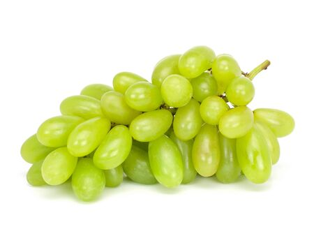 Fresh green grapes Isolated on white background Stock Photo