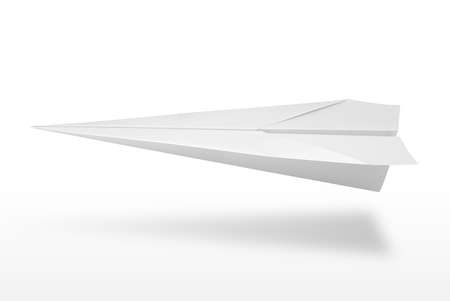 paper airplane: Paper plane isolated