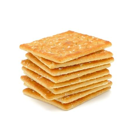 crackers: Cracker isolated on white  Stock Photo