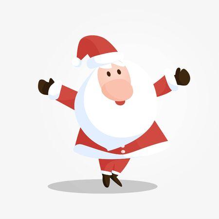 white bacjground: Smileing Santa