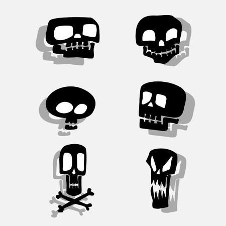 skull crossbones: Skulls