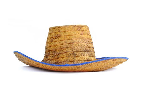 aging american: Straw hat Stock Photo