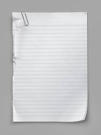 paperclips: Striped paper note