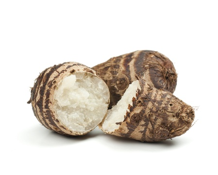 taro: Taro root  Stock Photo
