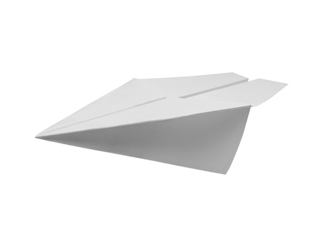 Paper plane isolated with clipping path  photo