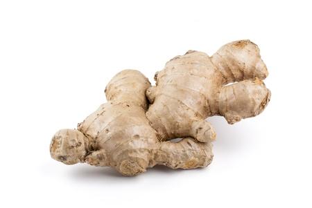jenjibre: Ginger aisladas sobre fondo blanco