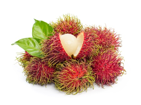 Rambutan isolated on white background