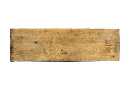 Plank Holz auf weißem Hintergrund isoliert Standard-Bild - 20271286