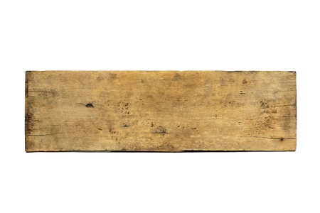 Plank hout op een witte achtergrond