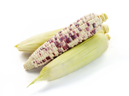kernels: Corn isolated on white background