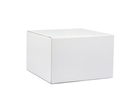 White box isolated on white background Stock Photo - 21956465