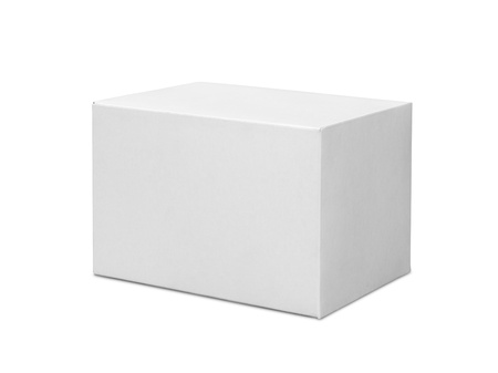 White box isolated on white background Stock Photo - 21956309