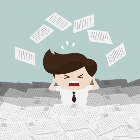 Problems in the workplace Illustration