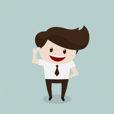 beatific: Business man - Listen Illustration