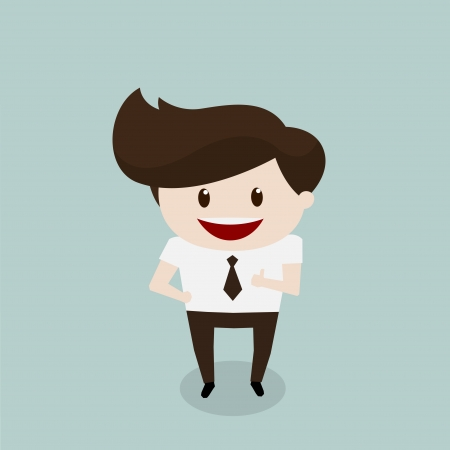beatific: Business man - Thumb up Illustration