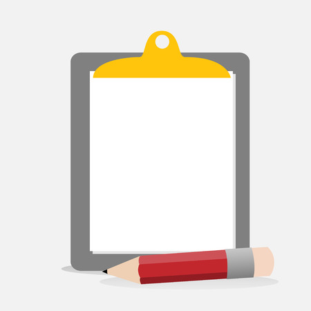 Vector clipboard with blank paper Stock Vector - 23777544