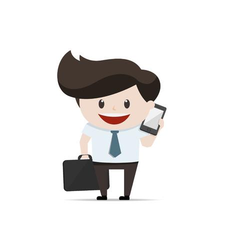 telefono caricatura: Empresario