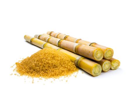 Suikerriet op een witte achtergrond Stockfoto