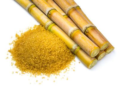 sugar cane farm: Sugar cane isolated on white background Stock Photo