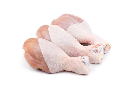 흰색 배경에 고립 된 Drumstick (닭 다리) 스톡 콘텐츠