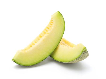 cantaloupe melon slices Stockfoto