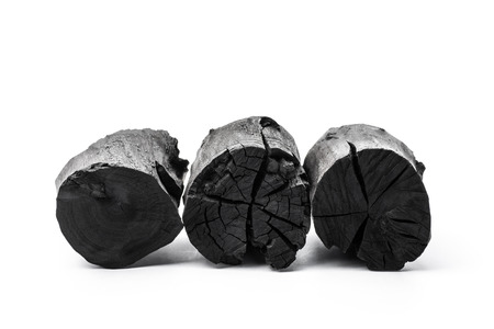 Charcoal isolated on white background 版權商用圖片