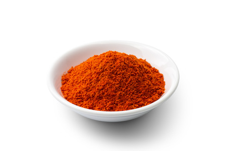 Paprika powder isolated on white background Imagens - 40458003