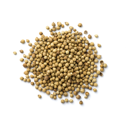 coriander seeds: Coriander seeds isolated on white background Stock Photo