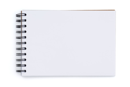 Blank notebook isolated on white background Stock Photo