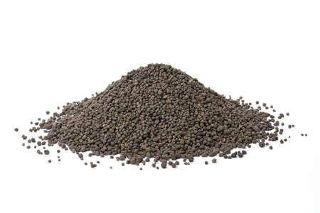 Chemical fertilizers isolated on white background. Phosphorus fertilizers