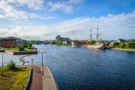 River tees at Stockton-on-tees, England