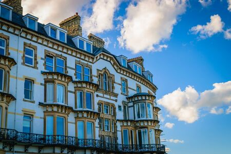 north yorkshire: Modern apartment building at Saltburn by the Sea, North Yorkshire UK Stock Photo
