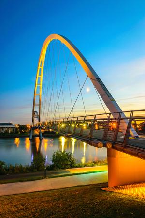 Infinity Bridge at night In Stockton-on-Tees, UK